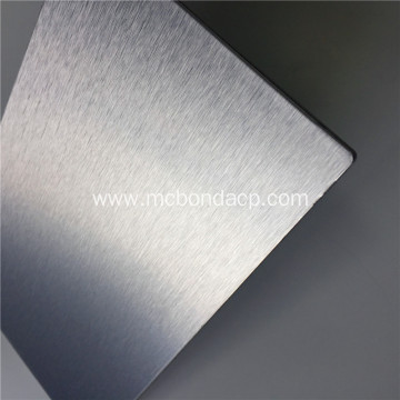 MC Bond Silver Brushed Metal Composite Panel